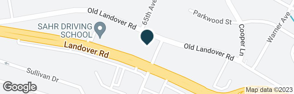 Google Map of6498 LANDOVER RD