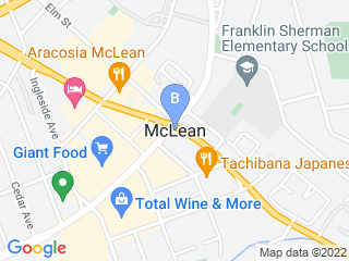 Map of Dogtopia McLean Dog Boarding options in McLean | Boarding