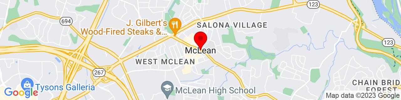 Google Map of 38.9338676, -77.1772604