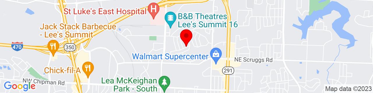 Google Map of 38.9343826, -94.37227879999999