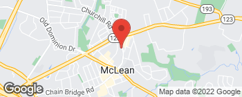 Map of 1340 Old Chain Bridge Rd in McLean