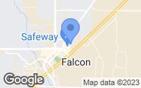 Map of Peyton, CO