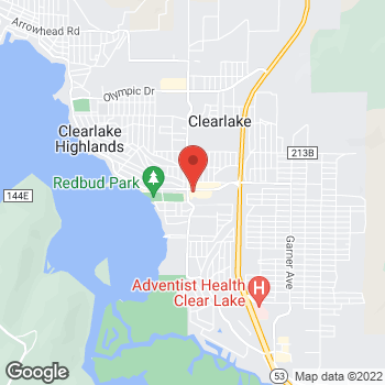 Map of Taco Bell at 15115 Lakeshore Blvd, Clearlake, CA 95422
