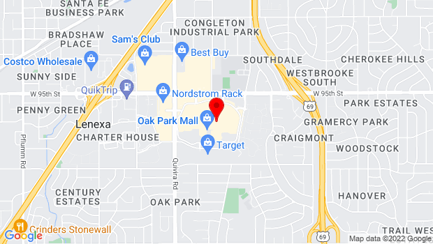 Google Map of 11167 W 95th St, Overland Park, KS 66214