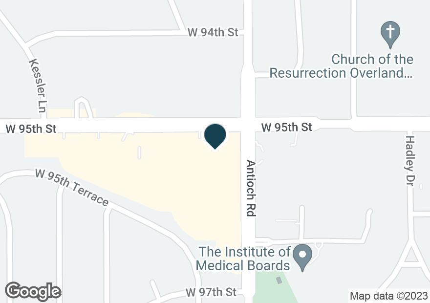 Google Map of9500 ANTIOCH RD