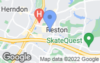 Map of Reston, VA