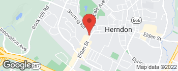 Map of 1020 Elden St in Herndon