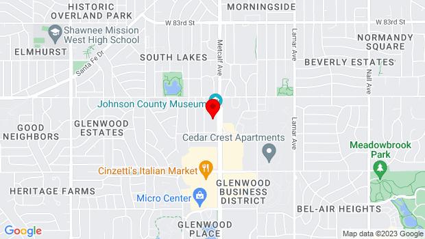 Google Map of 8788 Metcalf Ave, Overland Park, KS 66212