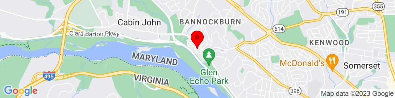 Google Map of 38.969555, -77.14192299999999