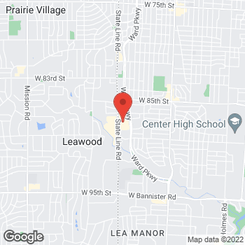 Map of location-map at 8600 Ward Parkway, Kansas City, MO 64114