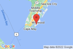 Map of Wildwood Crest