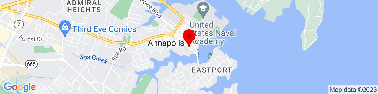 Google Map of 38.975558, -76.487979