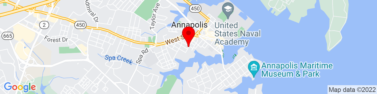 Google Map of 38.9757001, -76.4953815