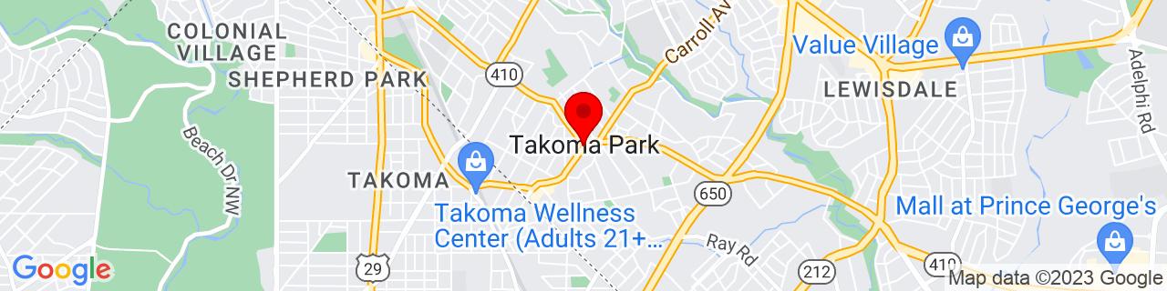 Google Map of 38.97777777777778, -77.0075