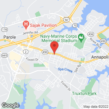 Map of Taco Bell at 1803 West St, Annapolis, MD 21401