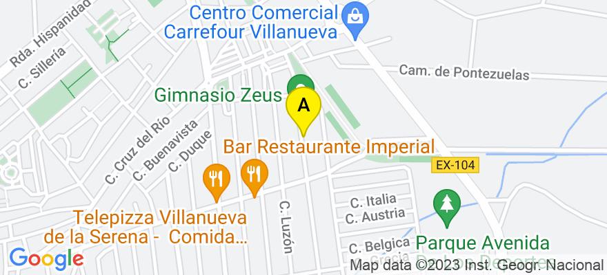 situacion en el mapa de . Direccion: C/Castillo de la Encomienda 122, 06700 Villanueva de la Serena. Badajoz