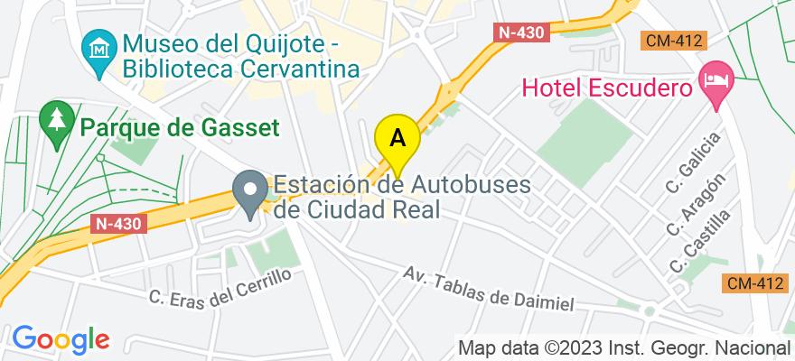 situacion en el mapa de . Direccion: Ronda de Granada 11-4º C, 13004 Ciudad Real. Ciudad Real