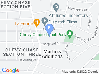 Map of Royal Pedigree Pet Care Dog Boarding options in Chevy Chase | Boarding