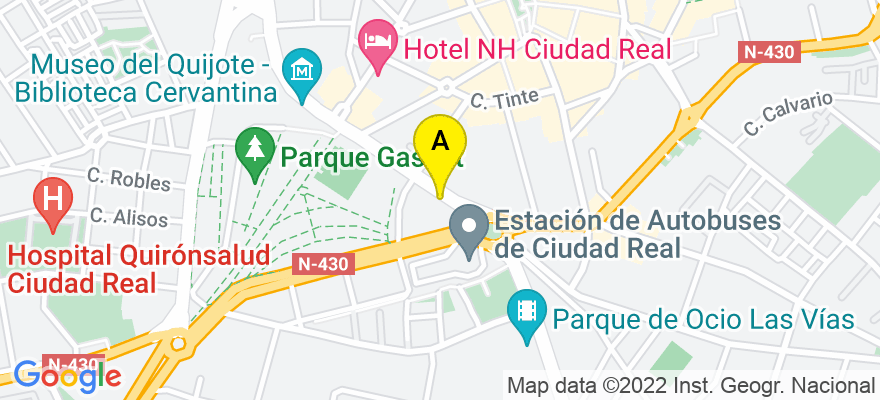 situacion en el mapa de . Direccion: Ronda de Ciruela, nº 5 - Portal 4, 2º D, 13004 Ciudad Real. Ciudad Real