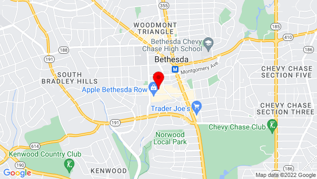 Google Map of Along Woodmont Avenue and Elm Street, Bethesda, MD 20814