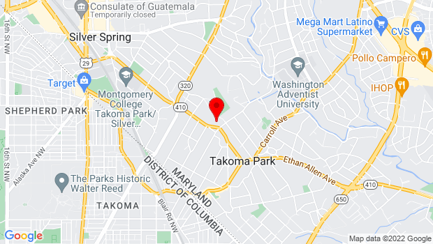 Google Map of 7500 Maple Avenue, Takoma Park, MD 20912