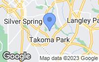 Map of Takoma Park, MD