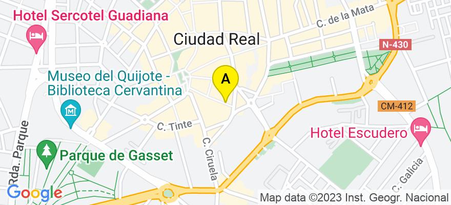 situacion en el mapa de . Direccion: calle MONTESA, 9. 3º A, 13001 Ciudad Real. Ciudad Real