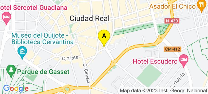 situacion en el mapa de . Direccion: Plaza San Francisco, 13001 Ciudad Real. Ciudad Real