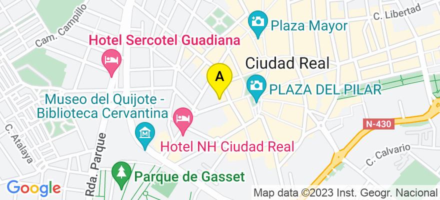 situacion en el mapa de . Direccion: c/ Alarcos 10, 4C, 13001 Ciudad Real. Ciudad Real
