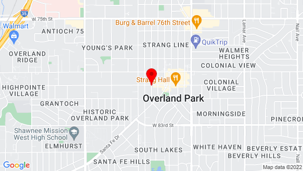 Google Map of 8001 Newton St, Overland Park, KS 66204