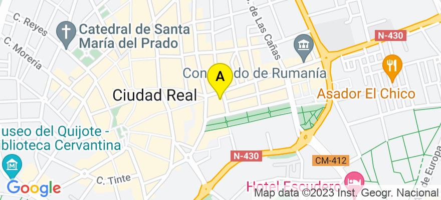situacion en el mapa de . Direccion: C/ Madrilas, 2, 3º B, 13004 Ciudad Real. Ciudad Real
