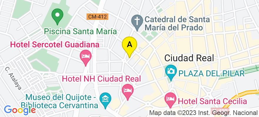 situacion en el mapa de . Direccion: Alamillo Alto, 1, bajo A, 13002 Ciudad Real. Ciudad Real