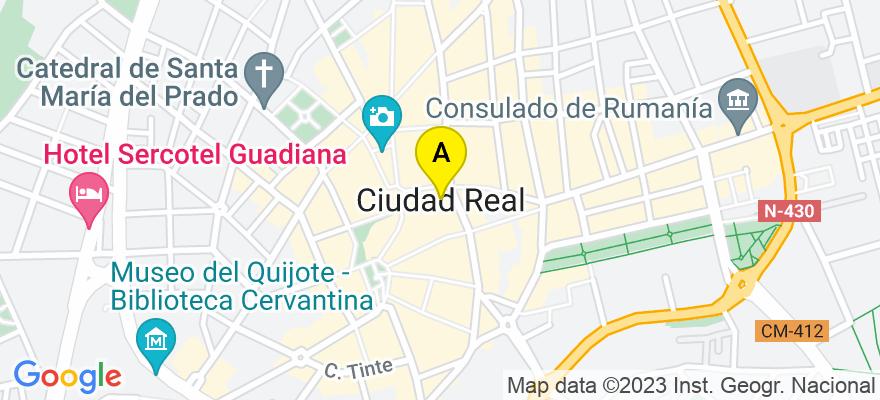situacion en el mapa de . Direccion: Avda. Rey Santo, Nº8  2ºD Edificio Europa, 13001 Ciudad Real. Ciudad Real