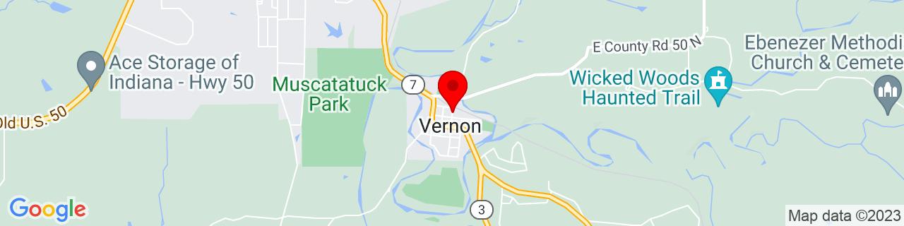 Google Map of 38.9859867, -85.60918699999999