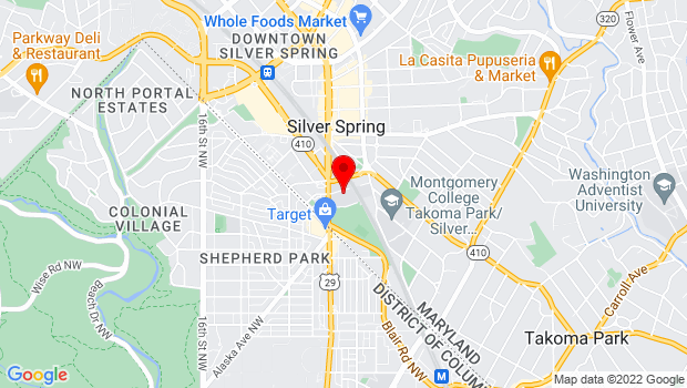 Google Map of 930 King Street, Silver Spring, MD 20910