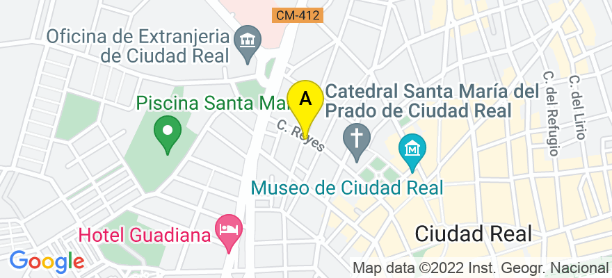 situacion en el mapa de . Direccion: C/ REAL, 33-1º D, 13002 Ciudad Real. Ciudad Real