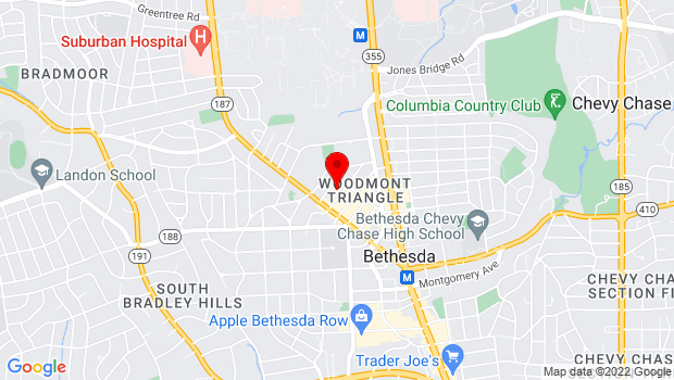 Google Map of 4908 Auburn Ave., Bethesda, MD 20814