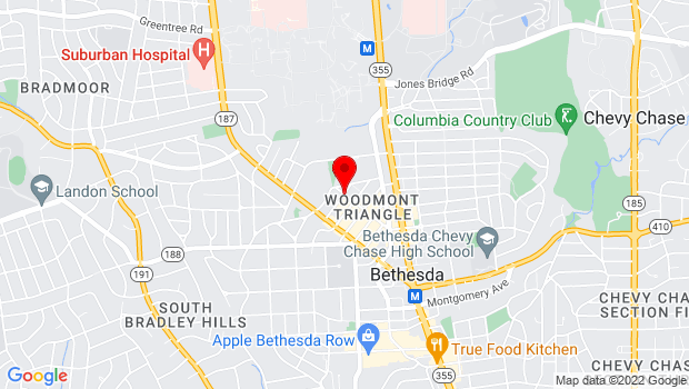 Google Map of Norfolk & Auburn Avenues, Bethesda, MD 20814