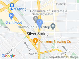 Map of The Dog Stay Dog Boarding options in Silver Spring | Boarding