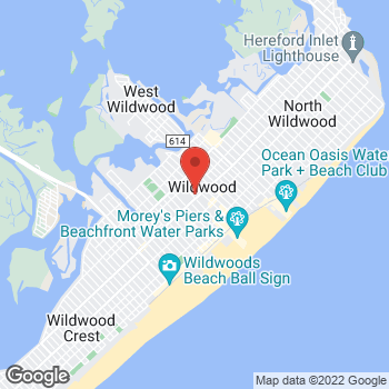 Map of Rite Aid at 3400 New Jersey Avenue, Wildwood, NJ 08260