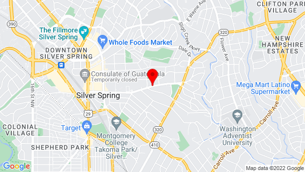 Google Map of 633 Sligo Ave., Silver Spring, MD 20910