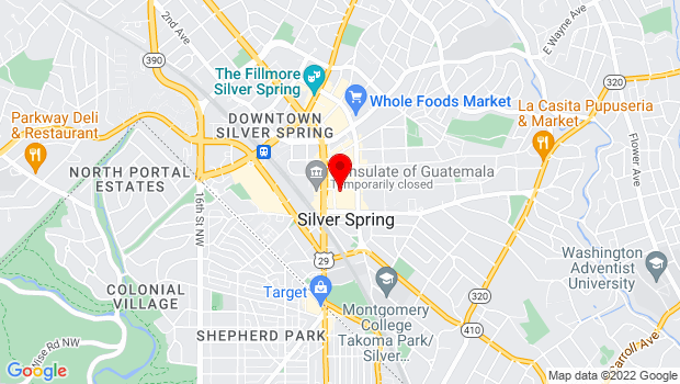 Google Map of 914 Silver Spring Ave., Silver Spring, MD 20910