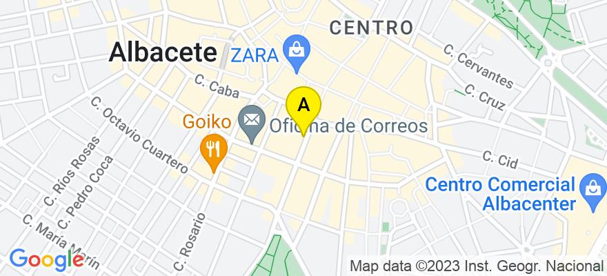 situacion en el mapa de . Direccion: Calle Tesifonte Gallego,10, 02002 Albacete. Albacete