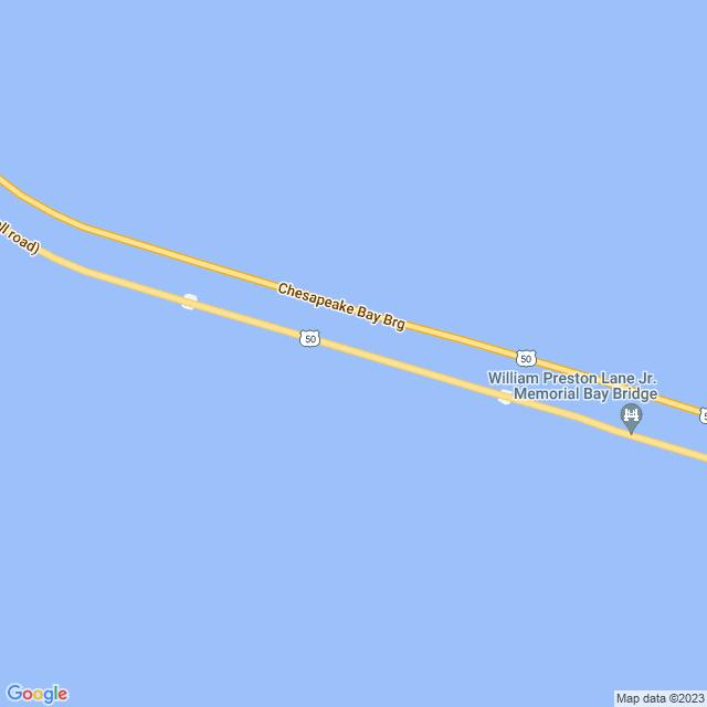 Map of William Preston Lanes Jr Memorial Bay (US 50/US 301) Bridge