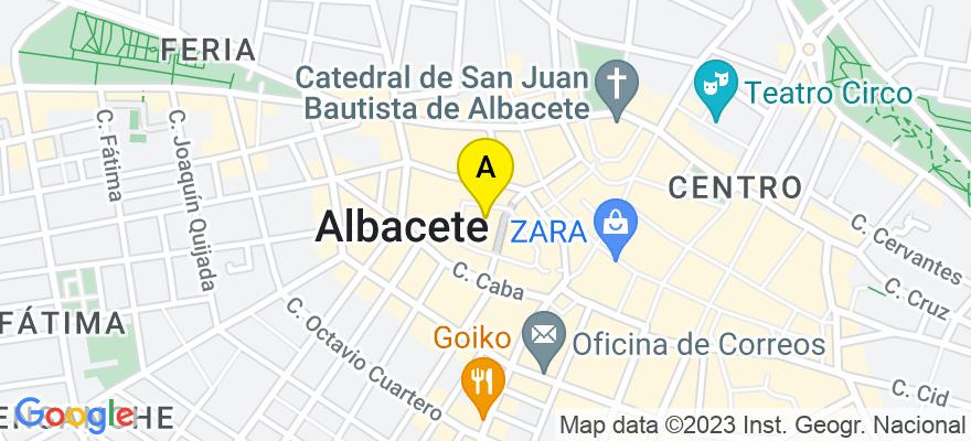 situacion en el mapa de . Direccion: c/ Francisco Fontecha, 5 - 1ºD (plaza del altozano), 02001 Albacete. Albacete