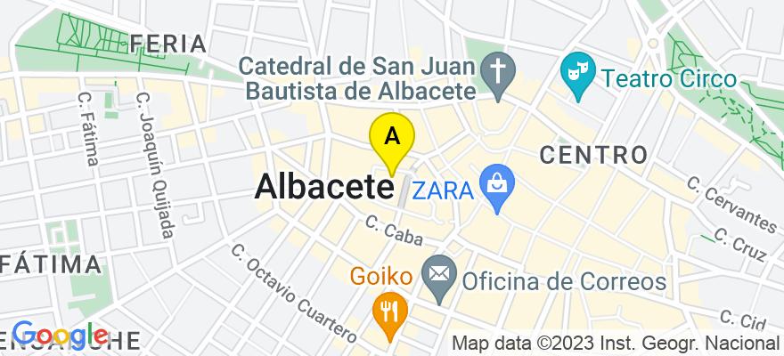 situacion en el mapa de . Direccion: Plaza del Altozano nº11, 4º Derecha, 02001 Albacete. Albacete