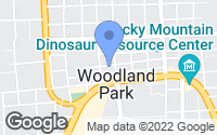 Map of Woodland Park, CO