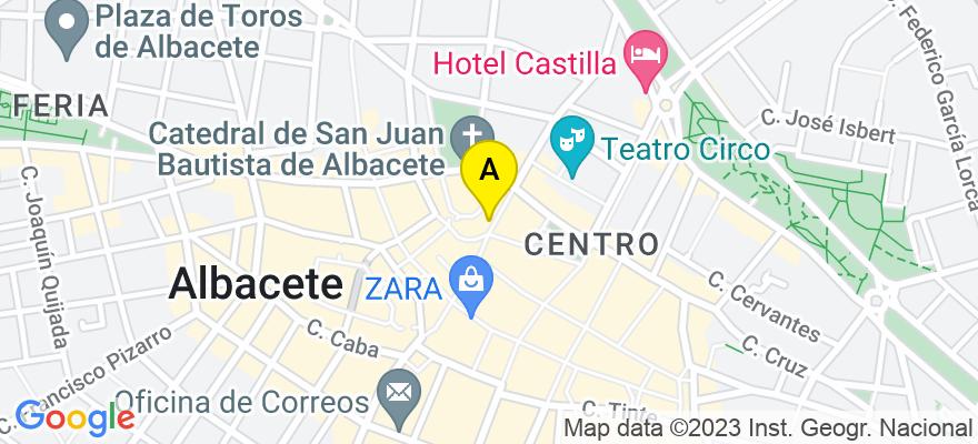 situacion en el mapa de . Direccion: c/Rosario 6 4º, 02001 Albacete. Albacete