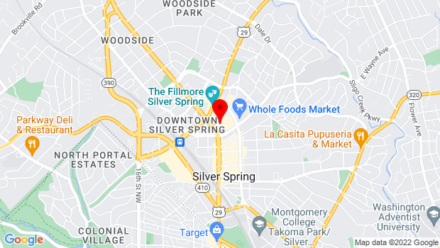 Google Map of 926 Ellsworth Drive, Silver Spring, MD 20910