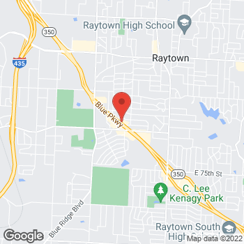 Map of Arby's at 9066 E 350 Hwy, Raytown, MO 64133-5760